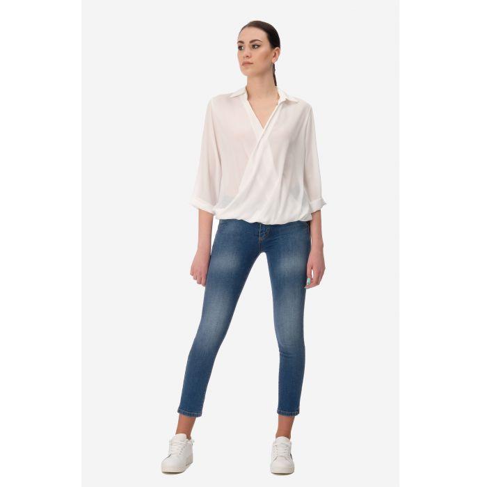 Jeans slim azzurrato