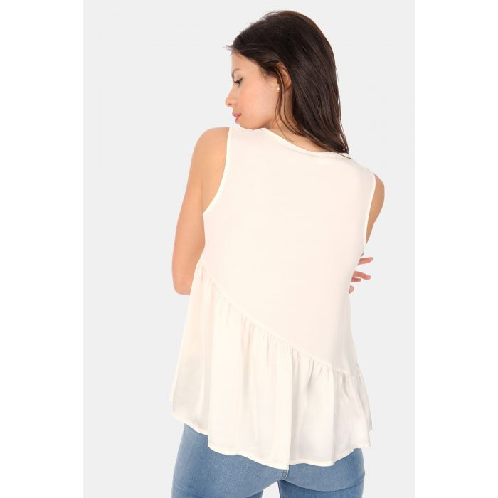 Top georgette insero in raso