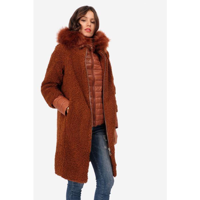 Cappotto eco pelliccia