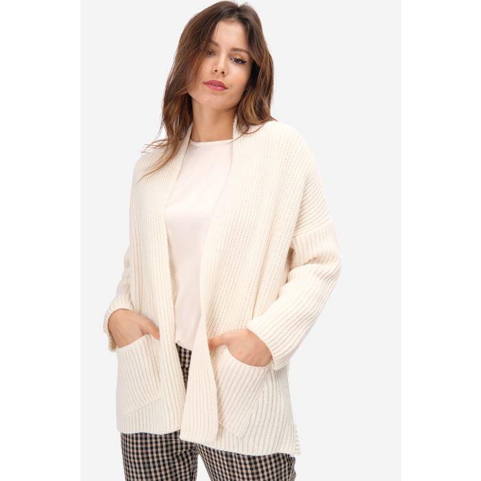 Cardigan misto lana