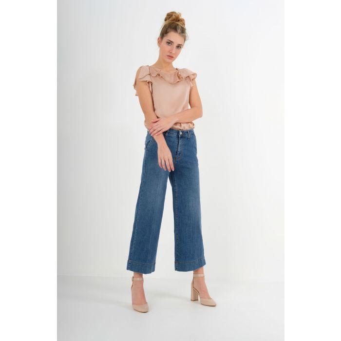 Jeans largo corto