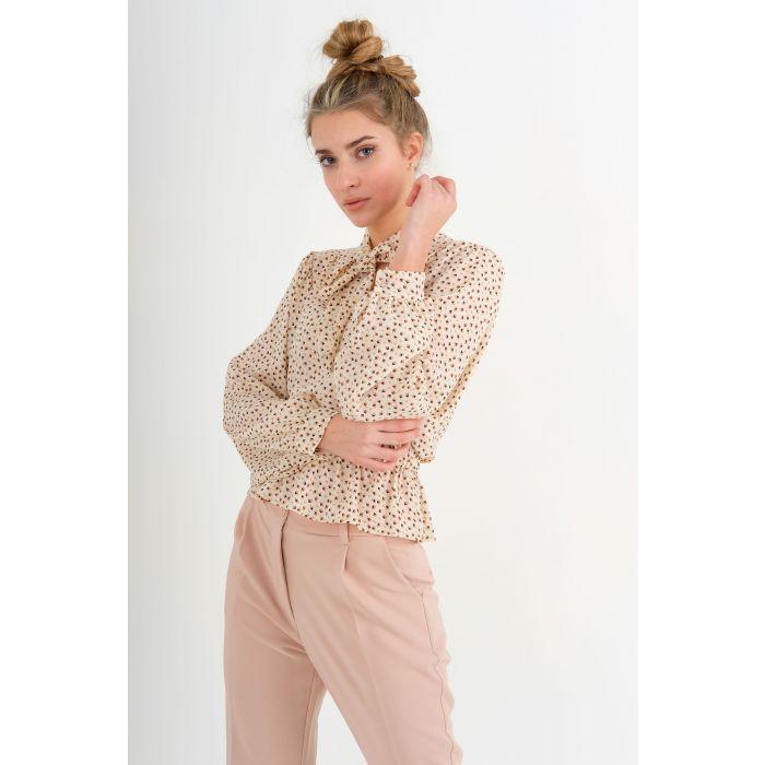 Blusa georgette fiocco