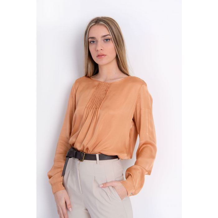 Blusa in viscosa pieghe