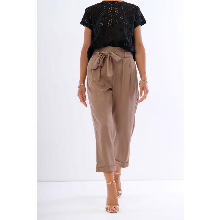 Pantalone tencel fiocco