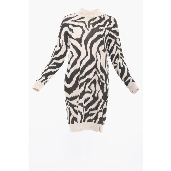 Abito maglia zebra
