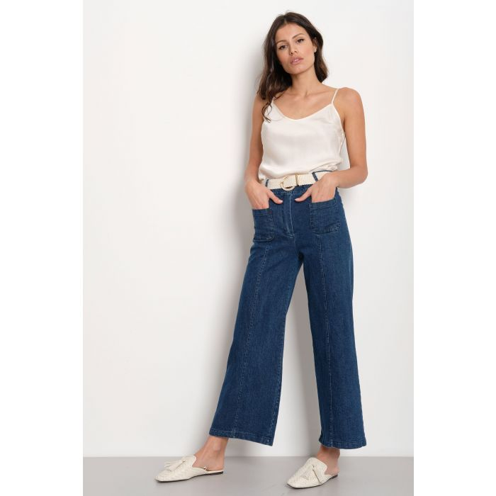 Jeans palazzo tasche frontali