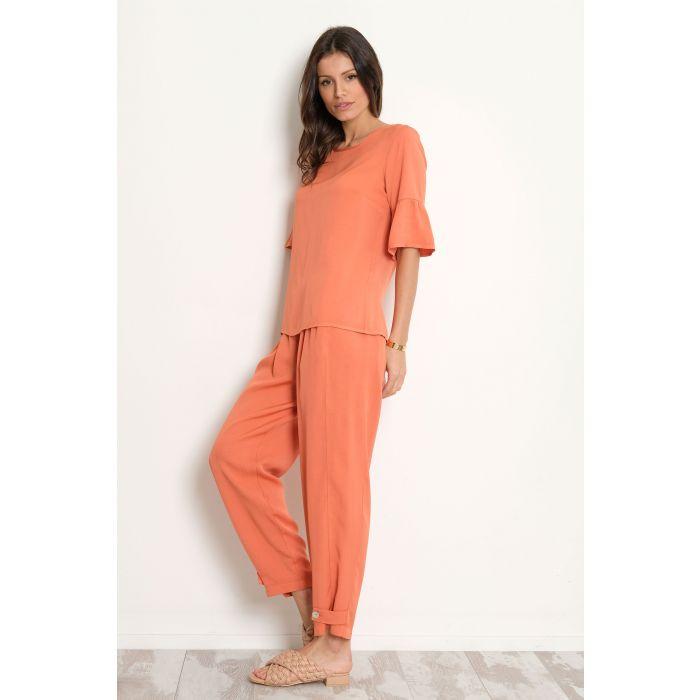 Pantalone misto lino-viscosa
