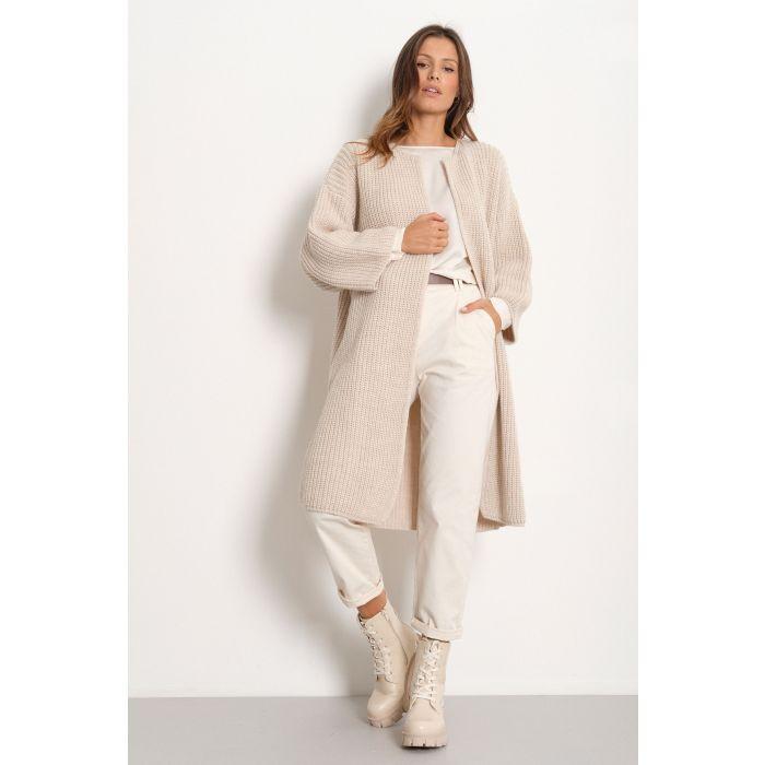 Cappotto maglia costa