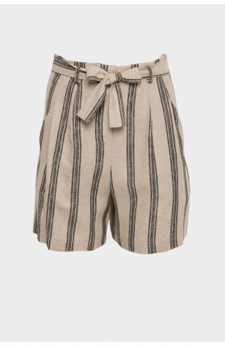 Shorts misto lino righe