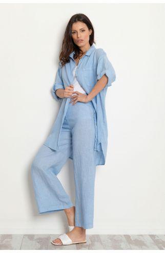 Camicia lunga lino