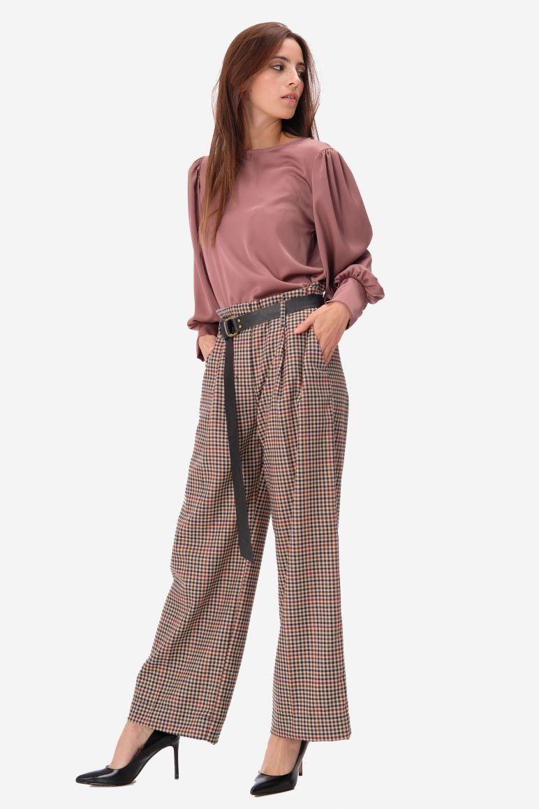 Pantalone a palazzo a quadri