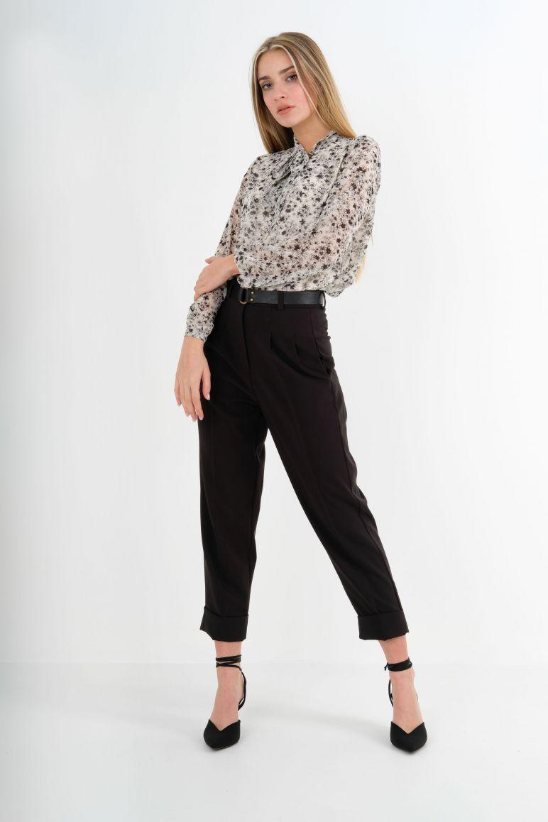 Blusa doppia georgette fiocco