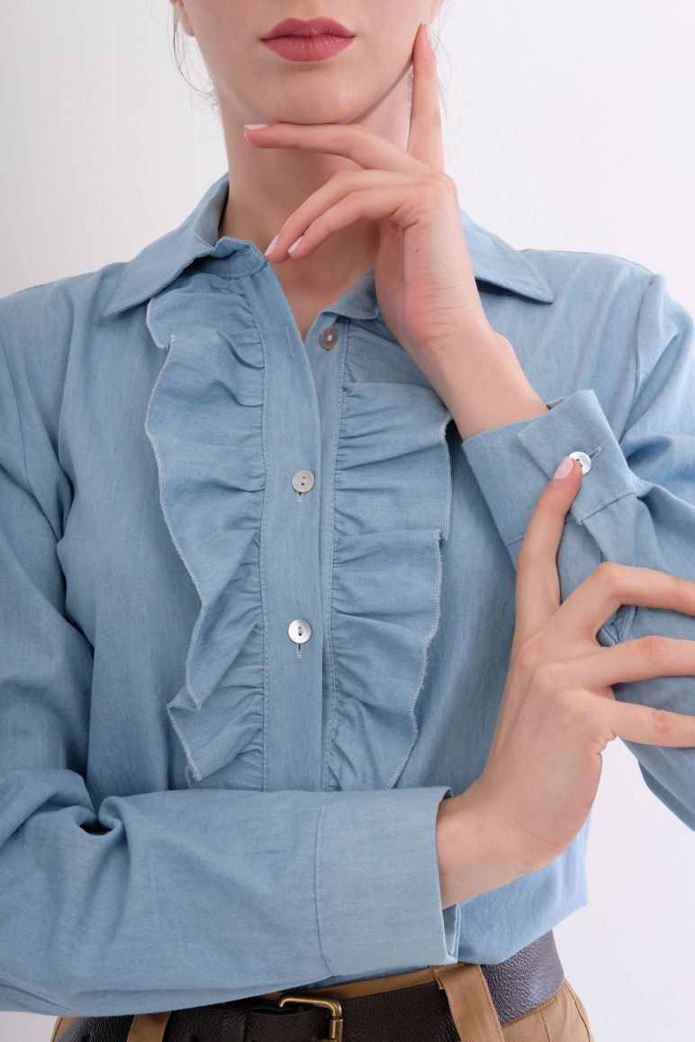 Camicia rouges in tencel