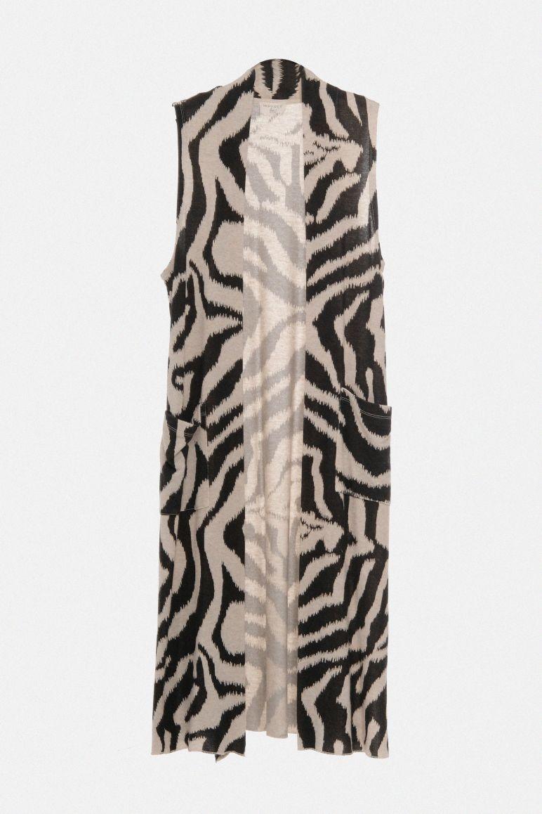 Gilet zebrato