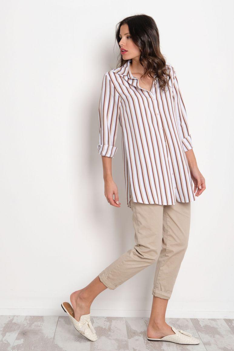 Camicia righe bianca