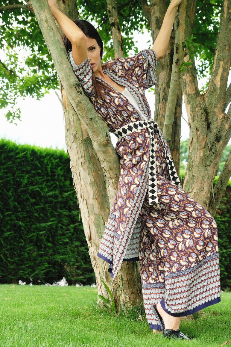 Kimono fantasia foglie
