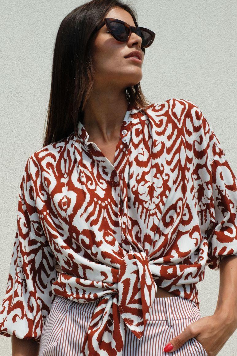 Camicia fantasia etnica